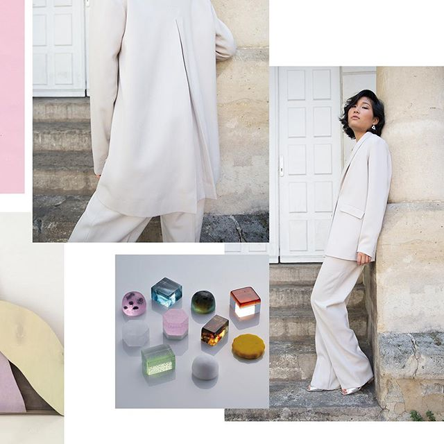 Second look, suit inspired by A-line shapes and girlbosses #dirtypastels #fashiondesigner #capsulecollection