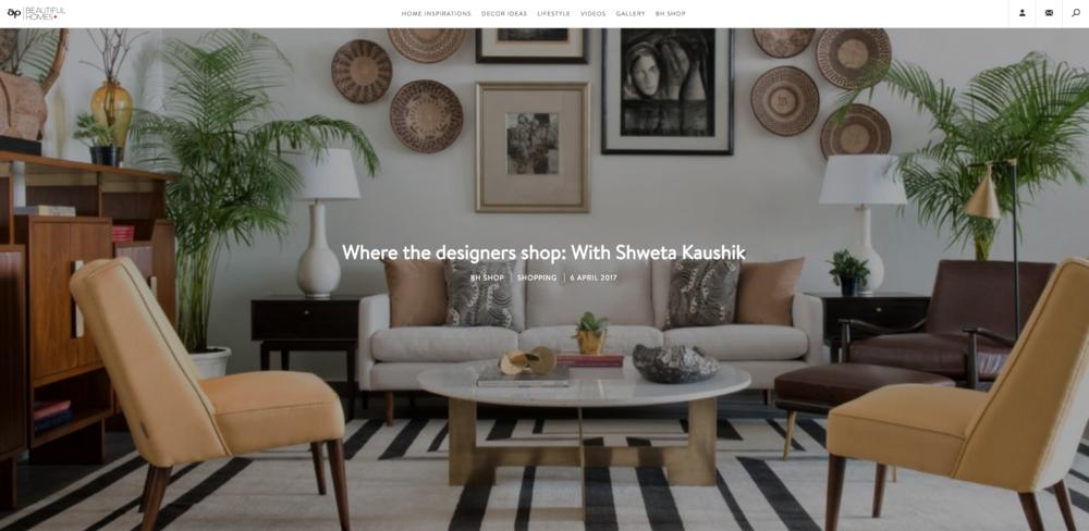 Where Designers Shop-Beautiful Homes -