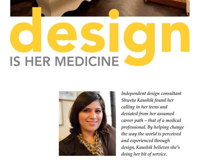 Design is her Medicine- Insites Magazine -