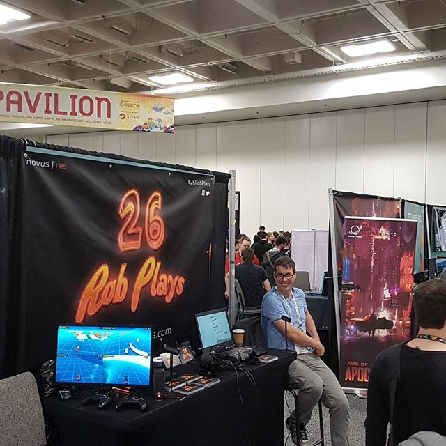 Getting a great response to our new VR game #26RobPlays at #GDC and having a great time...