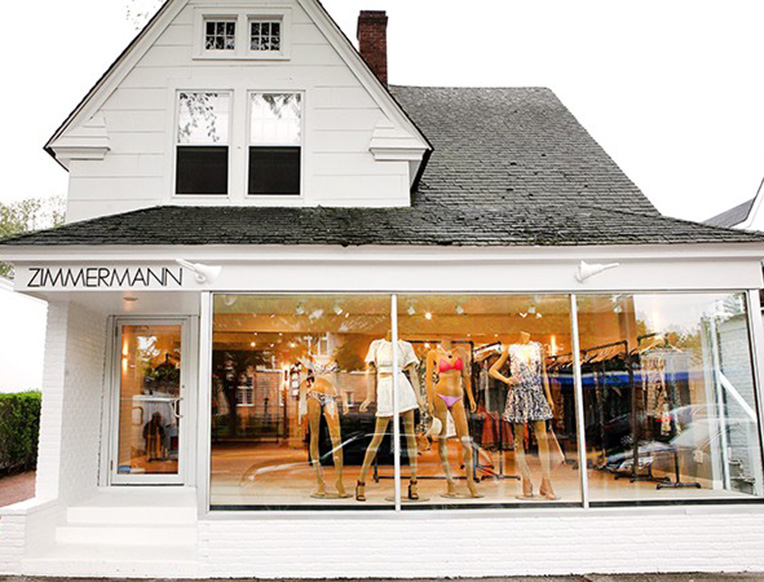 Zimmermann store in the Hamptons