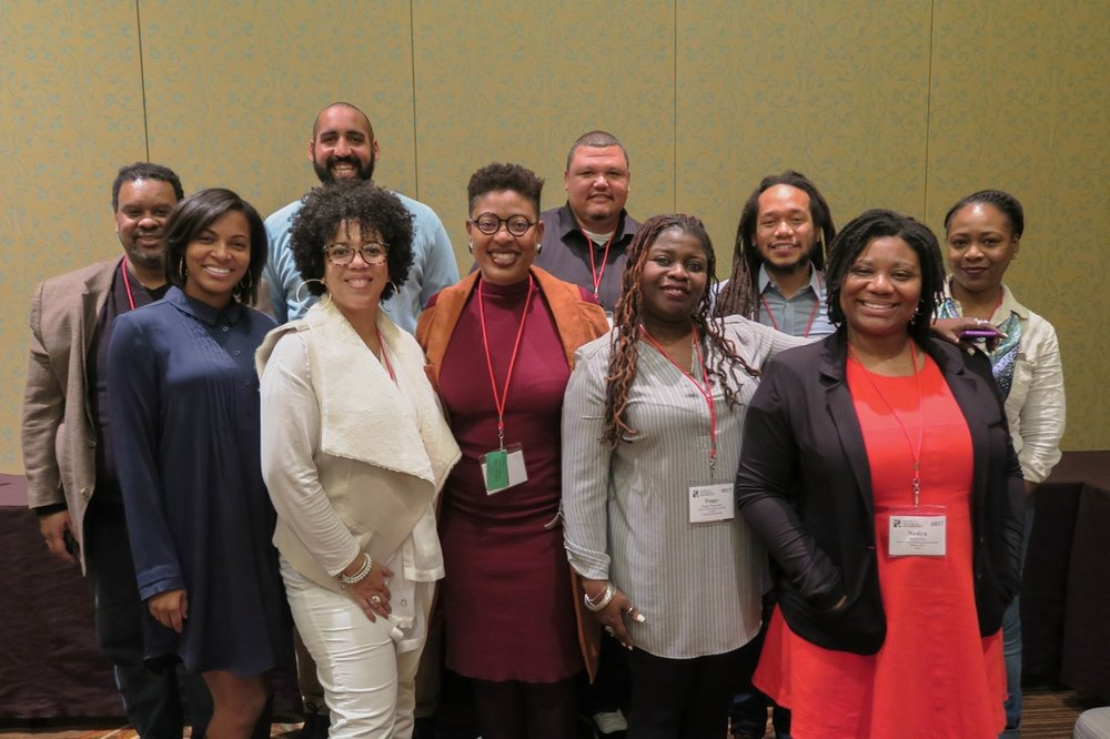 SBA Members at SHA 2017 in Dallas, Texas. (from left) Row 1: Dr. Alexandra Jones, Dr. Whitney Battle-Baptiste, Dr. Ayana Flewellen, Dr. Peggy Brunch, Dr. Nedra Lee, Row 3: Dr. Lewis Jones, Dr. William White, Dr. Jerry Howard, Dr. Justin Dunnavant, and Khadene Harris.