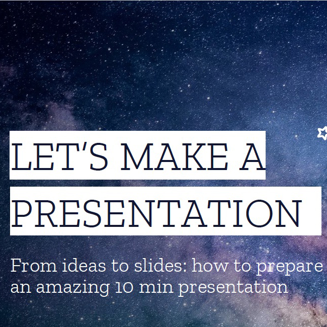 How to make a group presentation