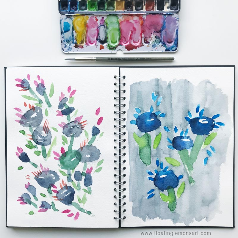 25 September 2018   Blobby Flower Doodles