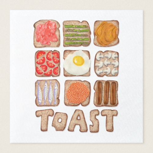 Breakfast Toast Paper Napkins:  USA  and  UK