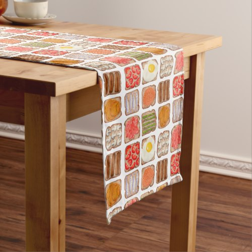 Breakfast Toast Table Runners:  USA  and  UK