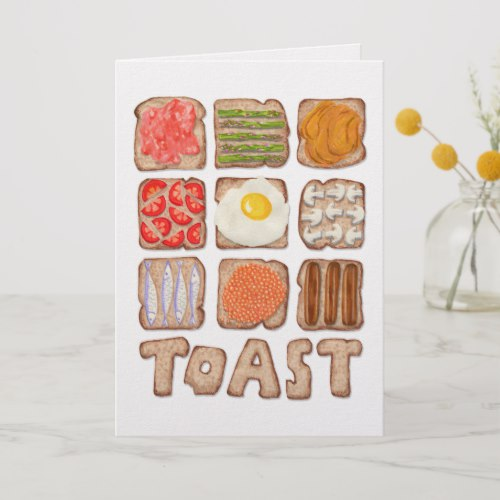 Breakfast Toast Greeting Cards:  USA  and  UK