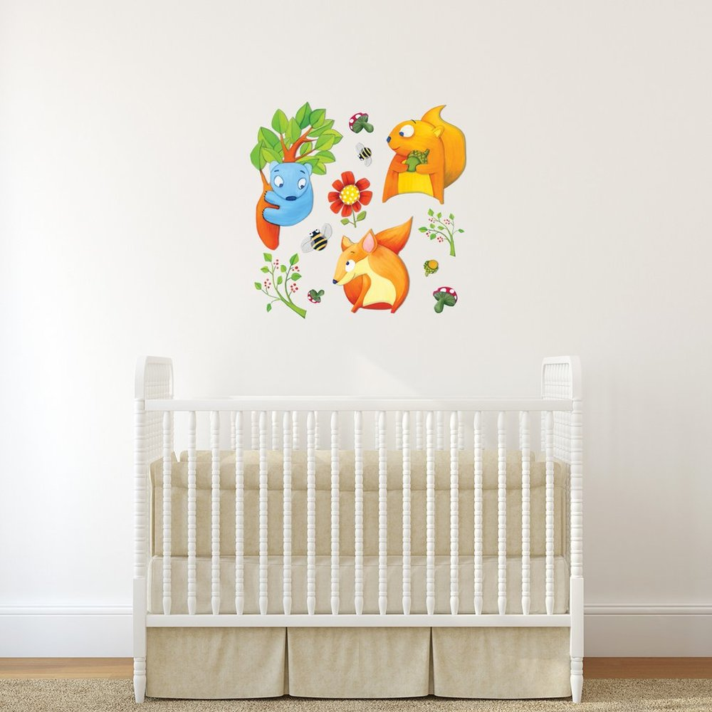 Woodland Fun interior decor art sticker decal by Floating Lemons Art