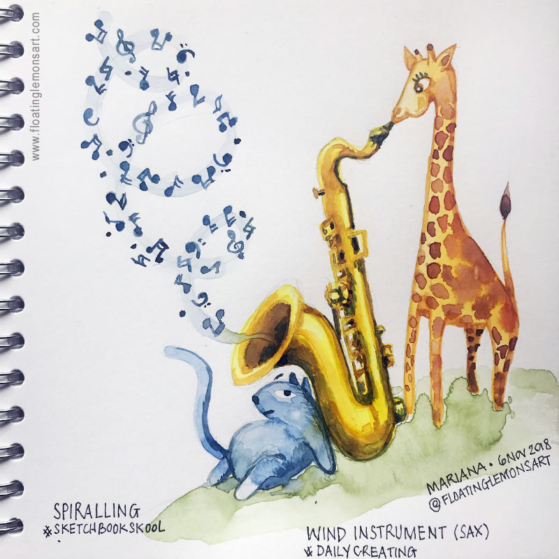 Daily01-Spiralling-Saxophone2-floatinglemonsart.jpg
