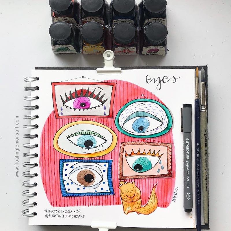11 November 2018   The Final Weeks of Inktober Drawings