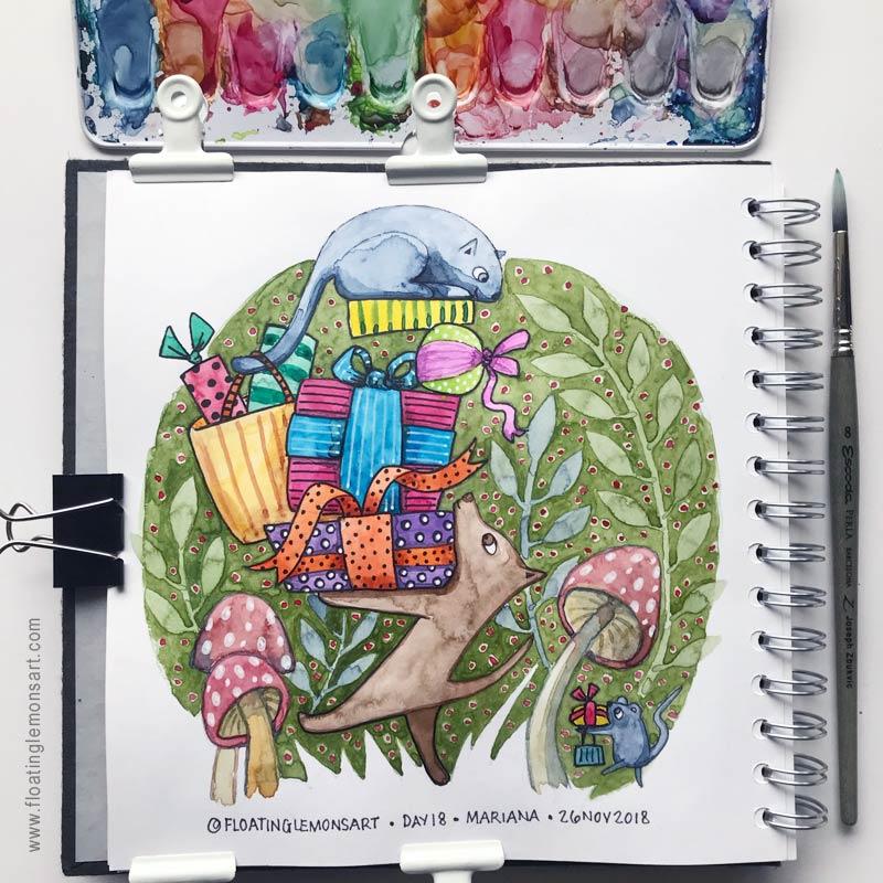28 November 2018   Daily Art: Days 14 - 19