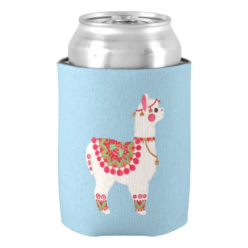 The Alpaca Can Cooler by  The Little Dog Paw Merchandises by Haidi Shabrina  for Zazzle  USA  and  UK