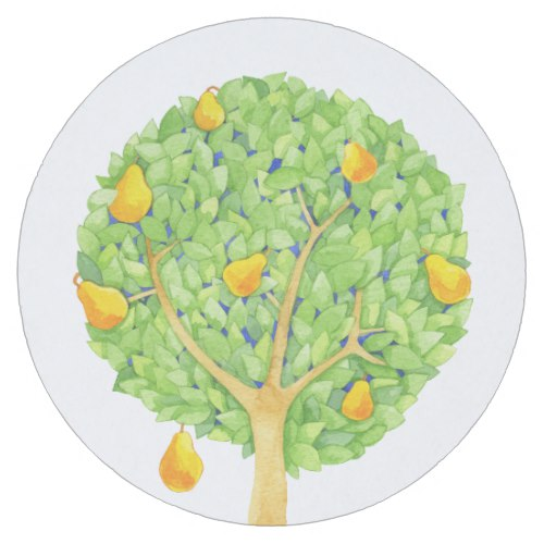Pear Tree Round Coasters by  Floating Lemons  for Zazzle  USA  and  UK