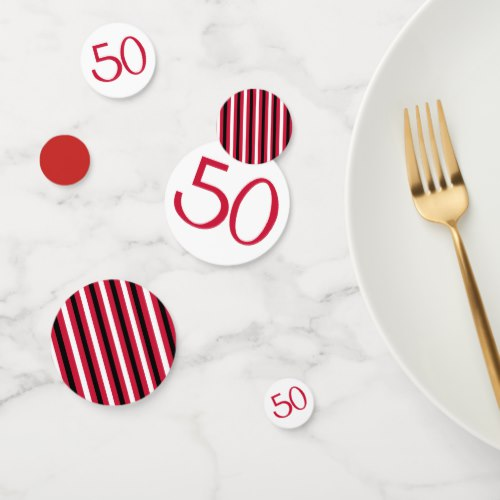 30 November 2018   Fabulous at 50 red Birthday Party Goods and Gifts