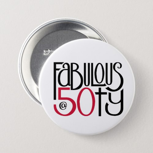 Fabulous 50 red Button by Floating Lemons for Zazzle  USA  and  UK