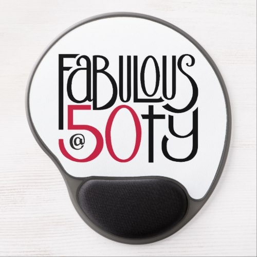Fabulous at 50 red Gel Mousepad by Floating Lemons for Zazzle  USA  and  UK