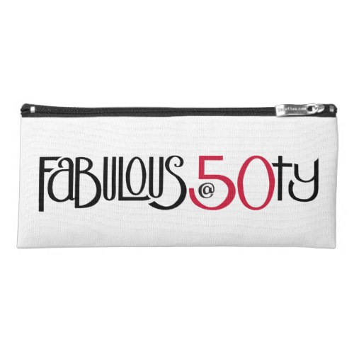 Fabulous at 50 red Pencil Case by Floating Lemons for Zazzle  USA  and  UK