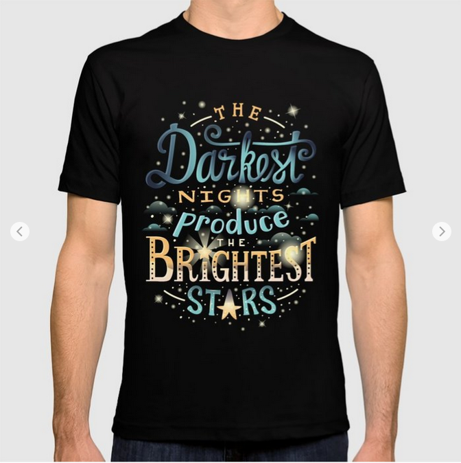 Brightest Stars T-shirt by Lisa Rodil on Society6