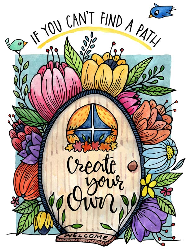 Create your Path free printable for subscribers to the Floating Lemons Art monthly newsletter.