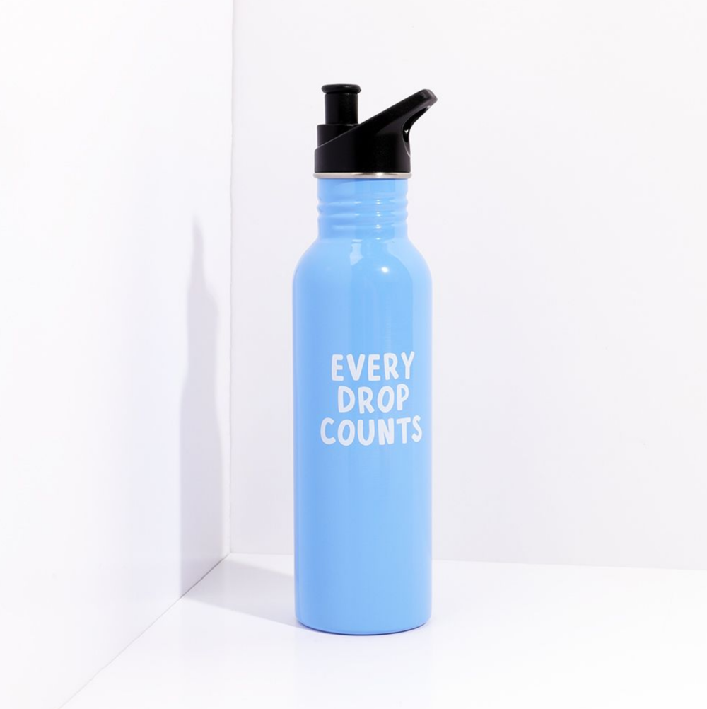Every Drop metal water bottle by Paperchase