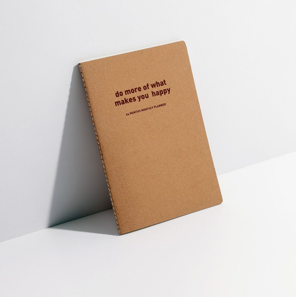 Recycled monthly planner by Paperchase