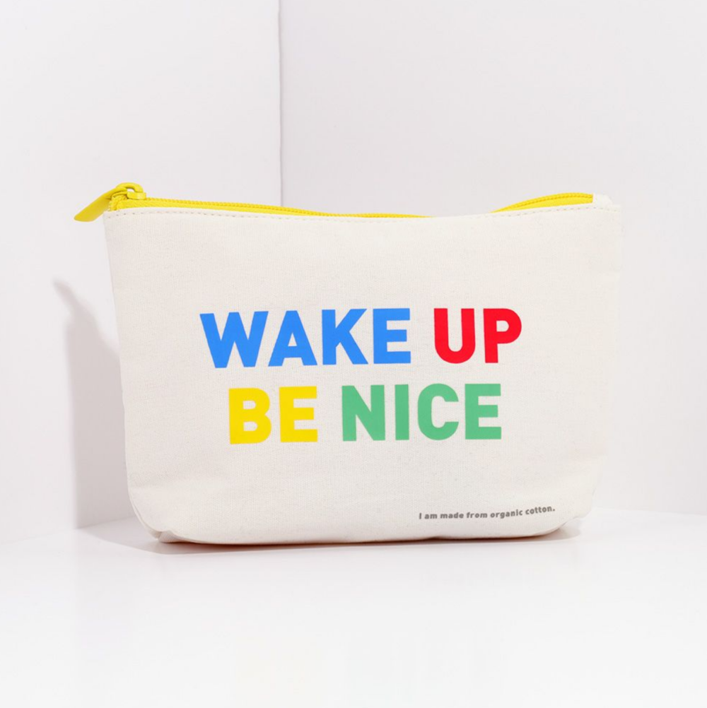 Organic cotton makeup bag by Paperchase