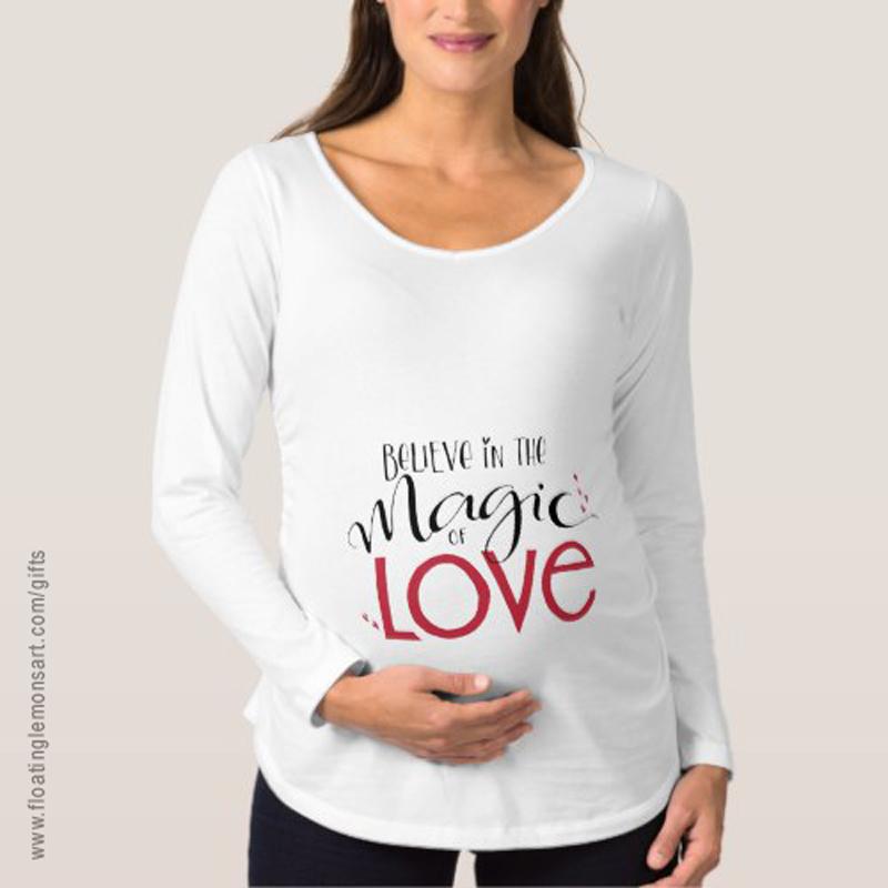 Magic of Love Maternity Long Sleeve T-Shirt: Floating Lemons Art -  USA  and  UK