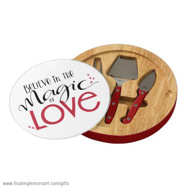 Magic of Love Cheese Boards: Floating Lemons Art