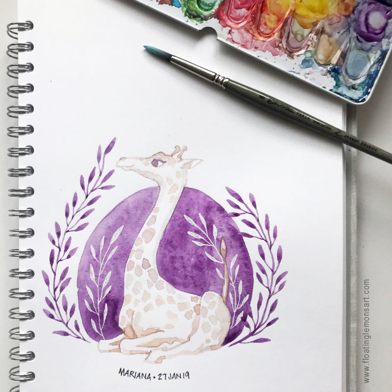 Circle Giraffe by Mariana :  www.floatinglemonsart.com