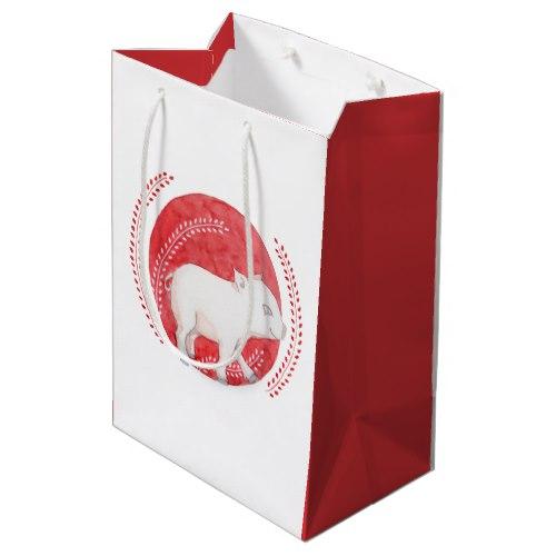 Circle Pig Medium Gift Bag by Floating Lemons Art:  USA  and  UK