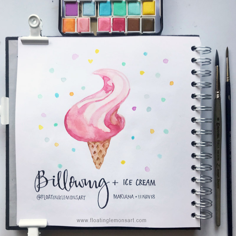 Billowing ice-cream by  Floating Lemons Art