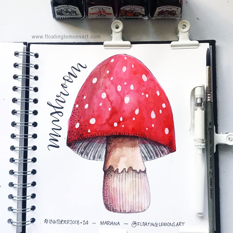 Mushroom by  Floating Lemons Art