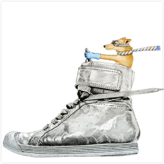 dog-driving-shoe by-Floating-Lemons-Art.jpg
