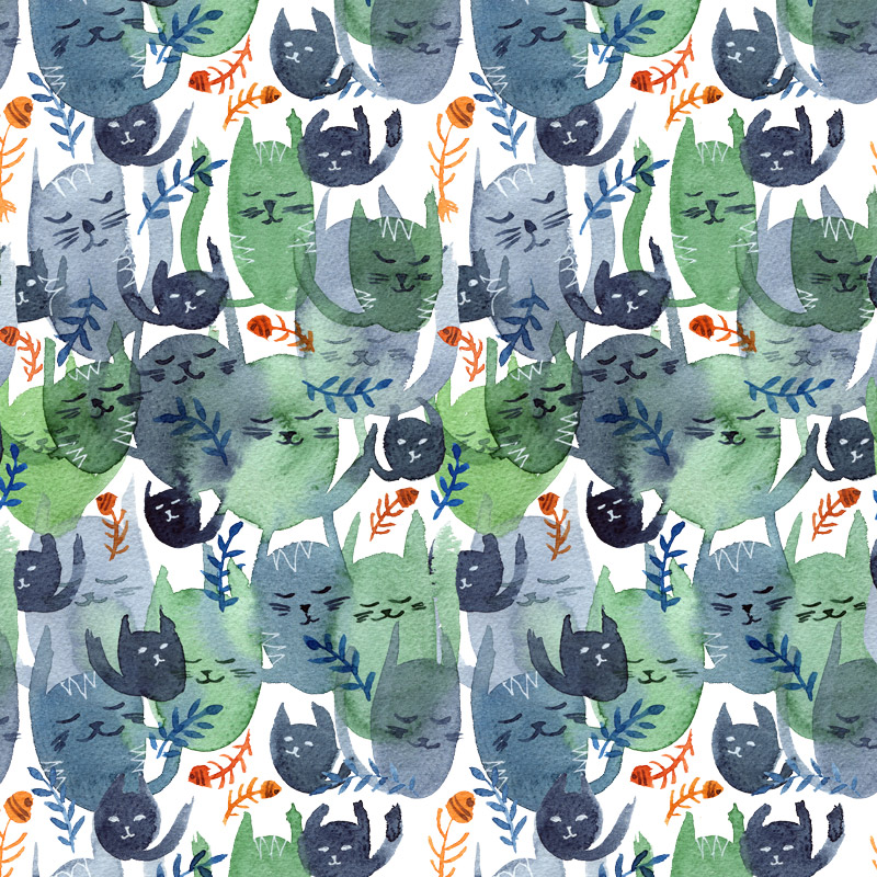 Cat Cacophony by  Floating Lemons Art