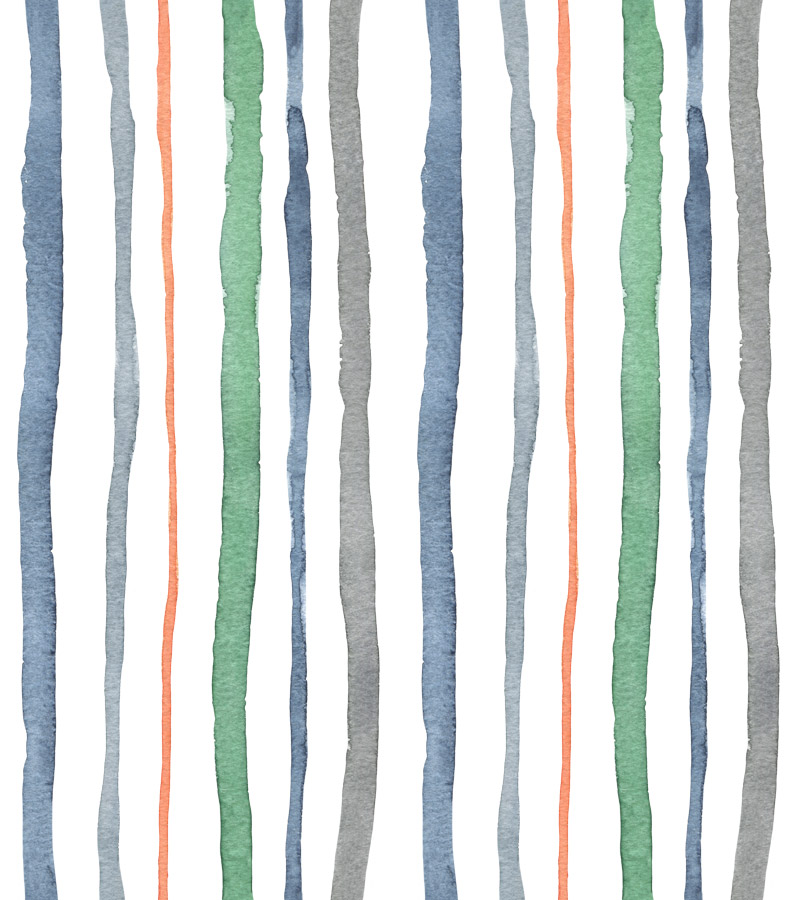 Cacophony Stripes by  Floating Lemons Art