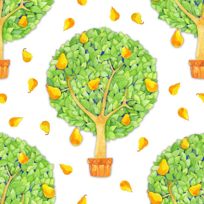 Pear Tree by  Floating Lemons Art