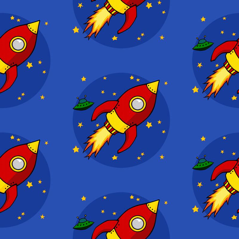 Rocket Red by  Floating Lemons Art