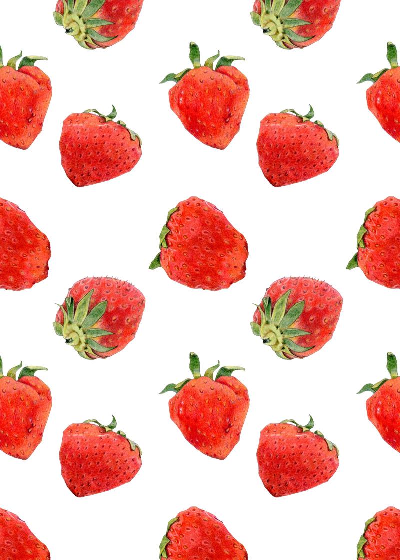 Srawberries by  Floating Lemons Art