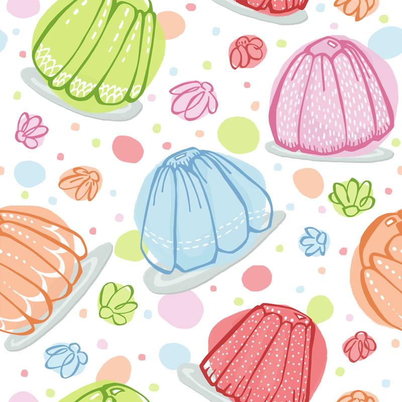 Wibbly Wobbly Jelly by  Floating Lemons Art