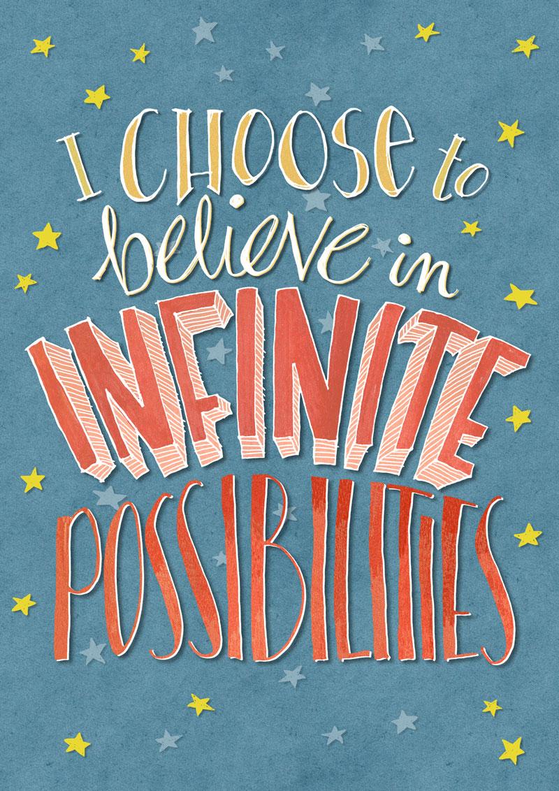 Infinite Possibilities by  Floating Lemons Art