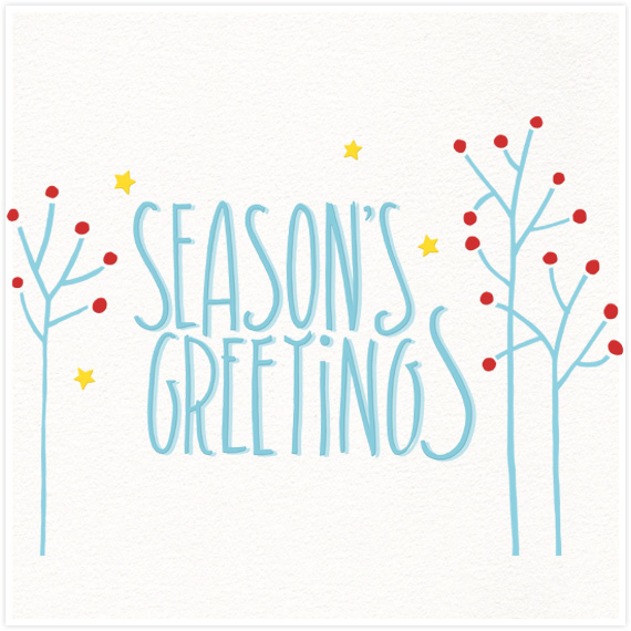 Seasons Greetings by  Floating Lemons Art