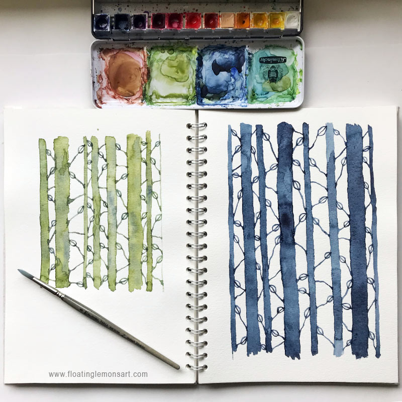 Watercolour Woods by Mariana :  www.floatinglemonsart.com