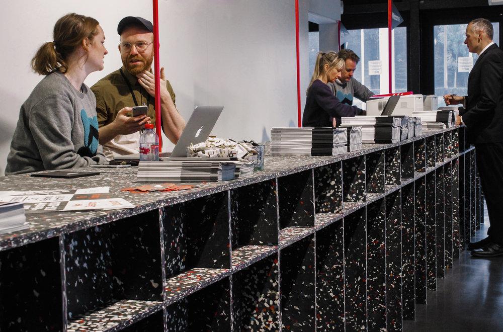 Entrance Desk @ Interieur Biennale Kortrijk 2018 with Studio Verter
