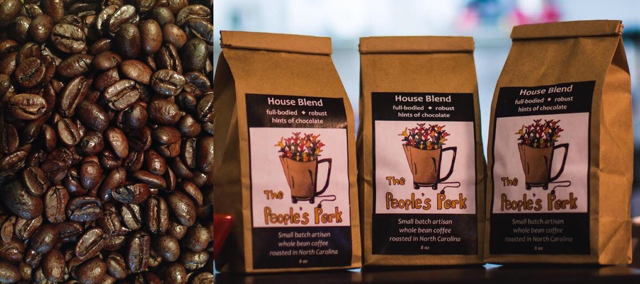 Our custom house blend coffee: robust and full-bodied with hints of chocolate