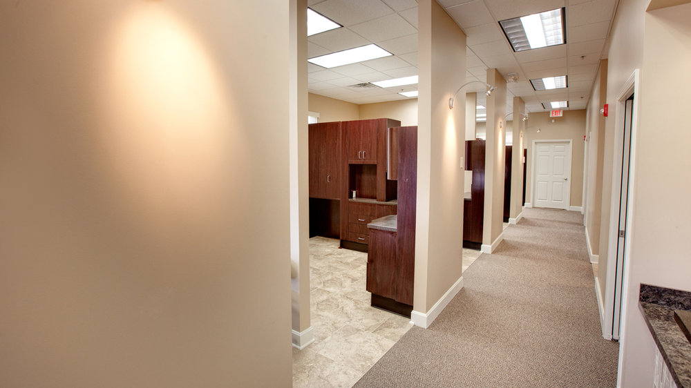 Dental exam rooms at Dental Expressions in Overland Park