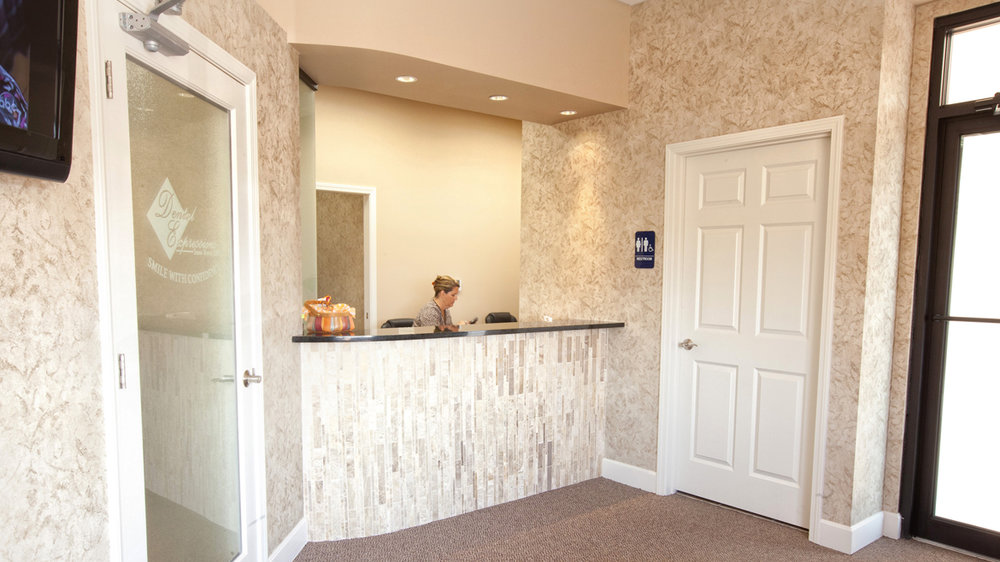 Front desk at Dental Expressions in Overland Park