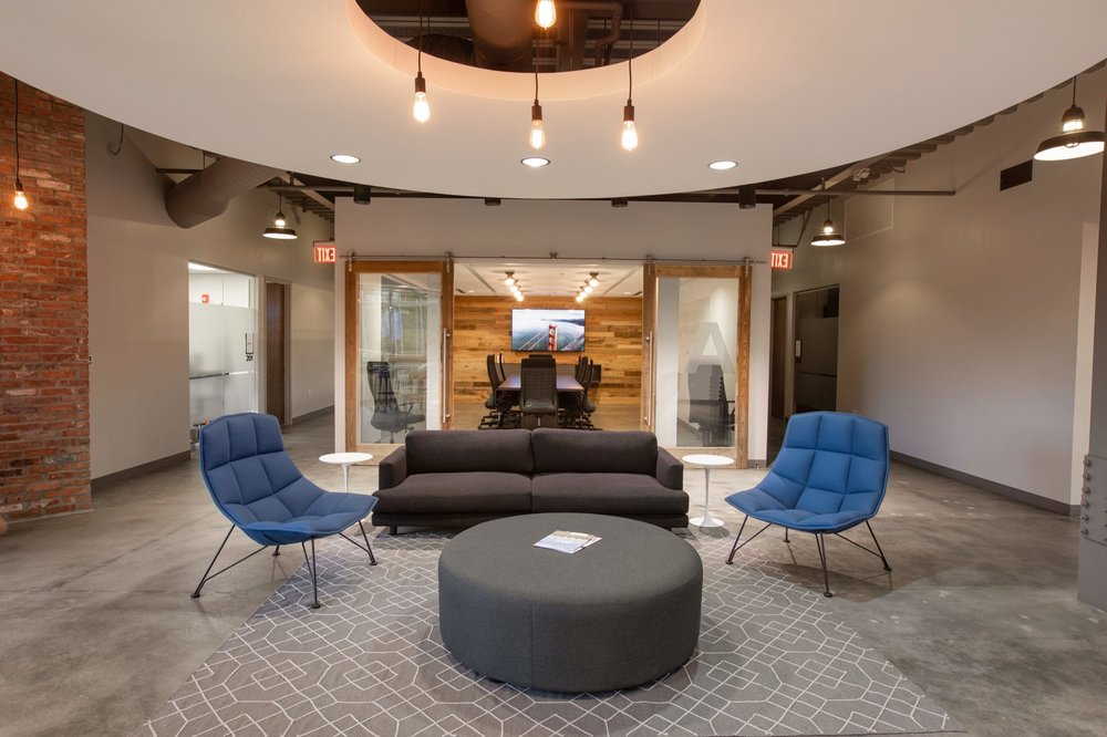 Lounge seating at Edison Spaces