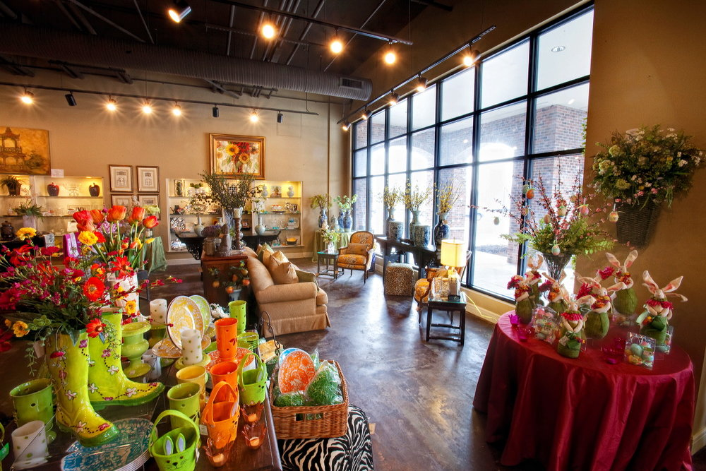 Interior view of the store front at Noel's Fine Gifts in Mission Farms