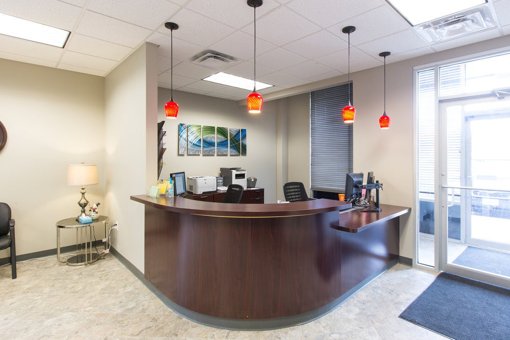 Front desk at the ReDiscover office