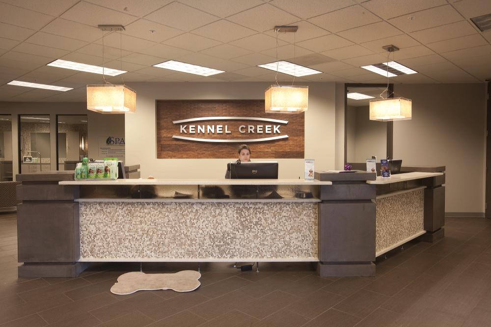The front desk at Kennel Creek in Overland Park